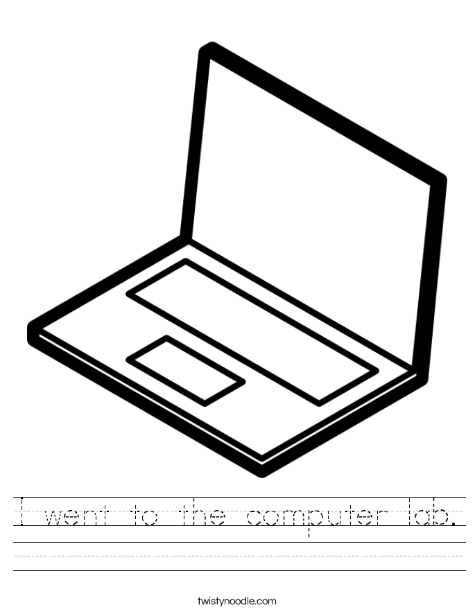I went to the computer lab. Worksheet