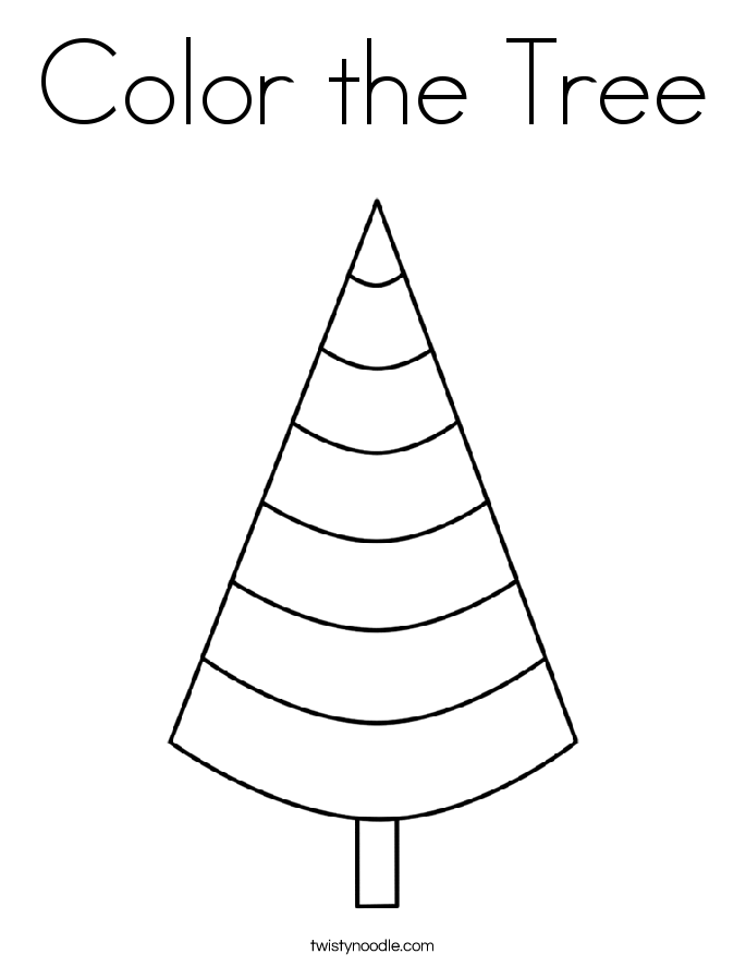 Color the Tree Coloring Page