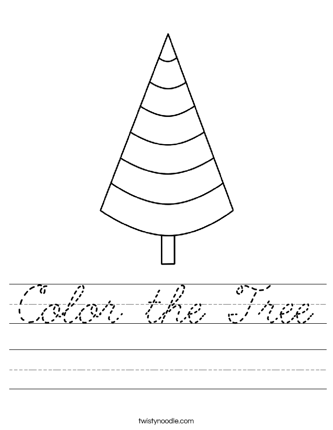 Color the Tree Worksheet