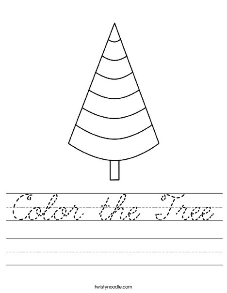 Cone Shaped Tree Worksheet
