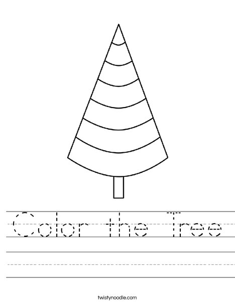 Cone Shaped Tree Worksheet