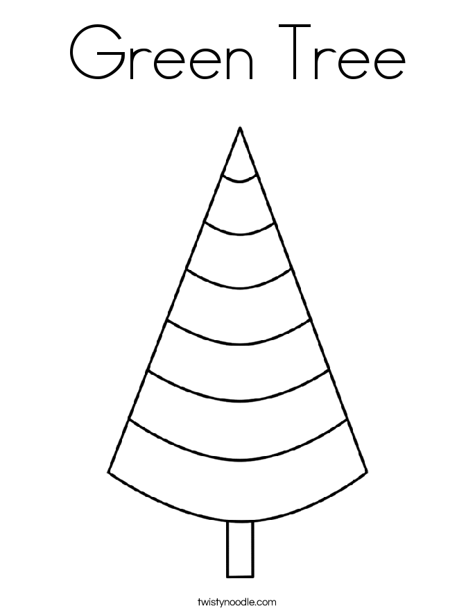 Green Tree Coloring Page