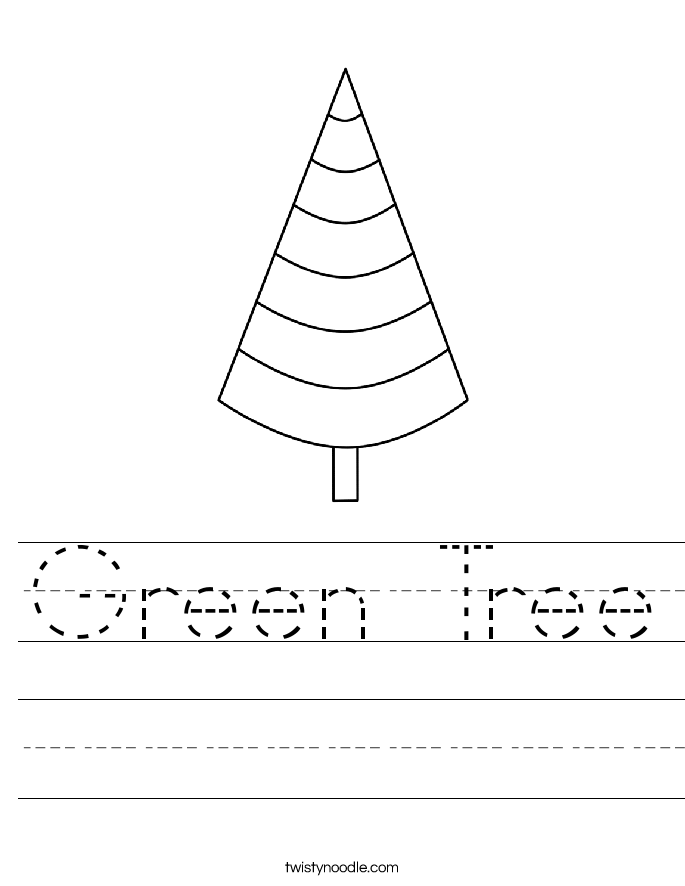 Green Tree Worksheet