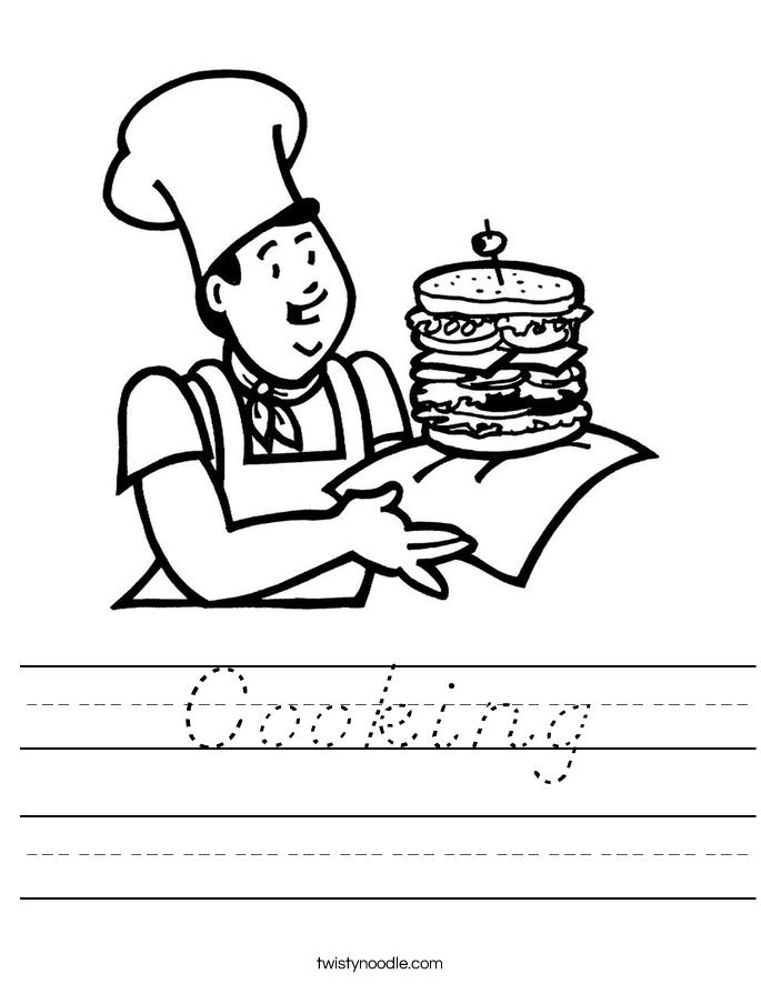 Cooking Worksheet