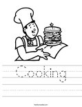 Cooking Worksheet