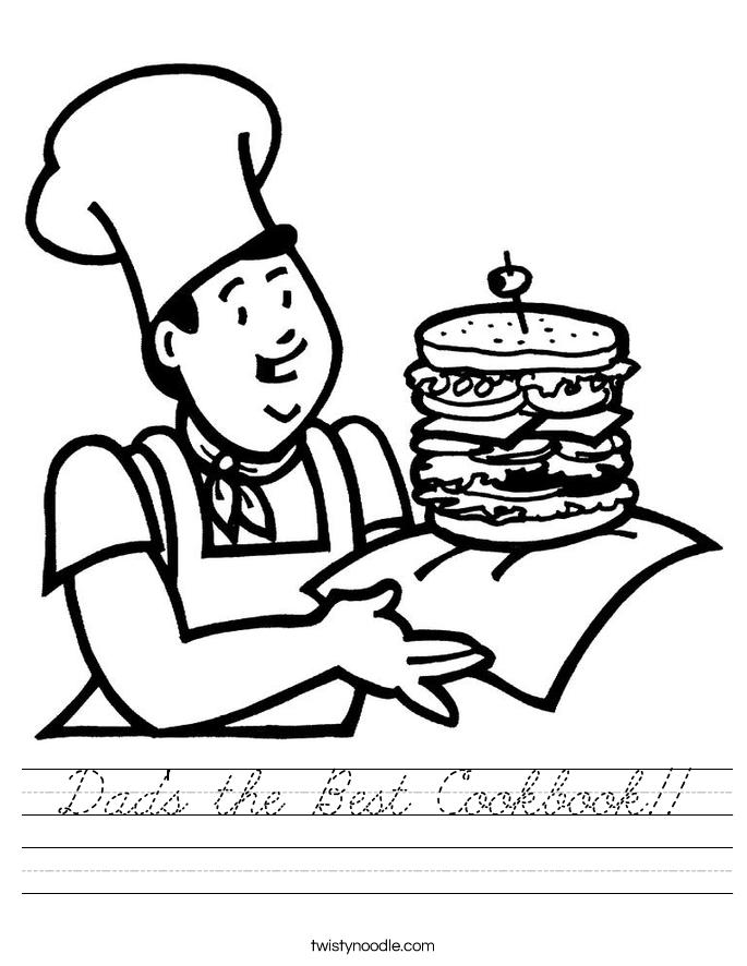 Dad's the Best Cookbook!! Worksheet