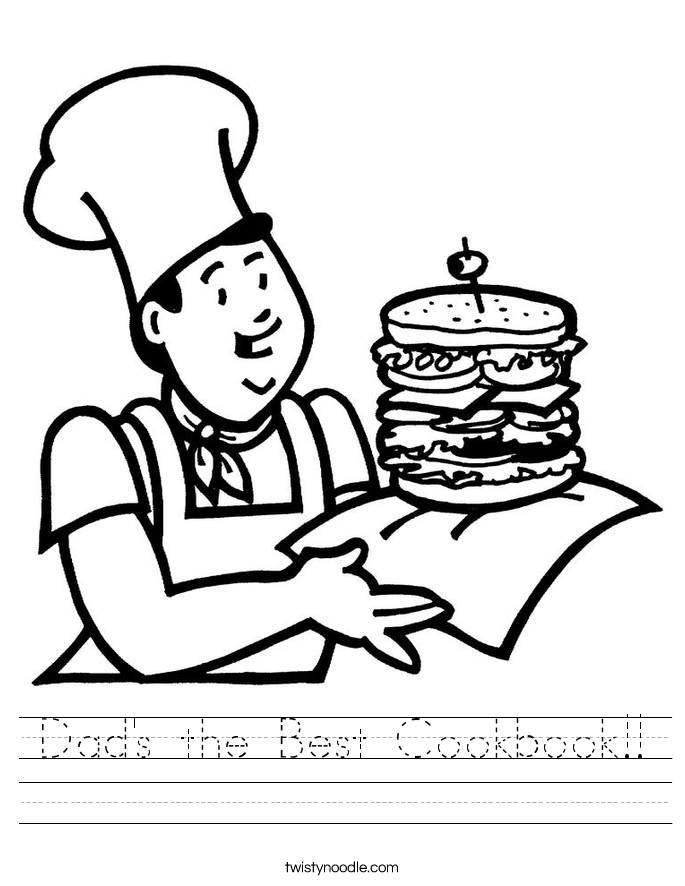 Dad's the Best Cookbook!! Worksheet