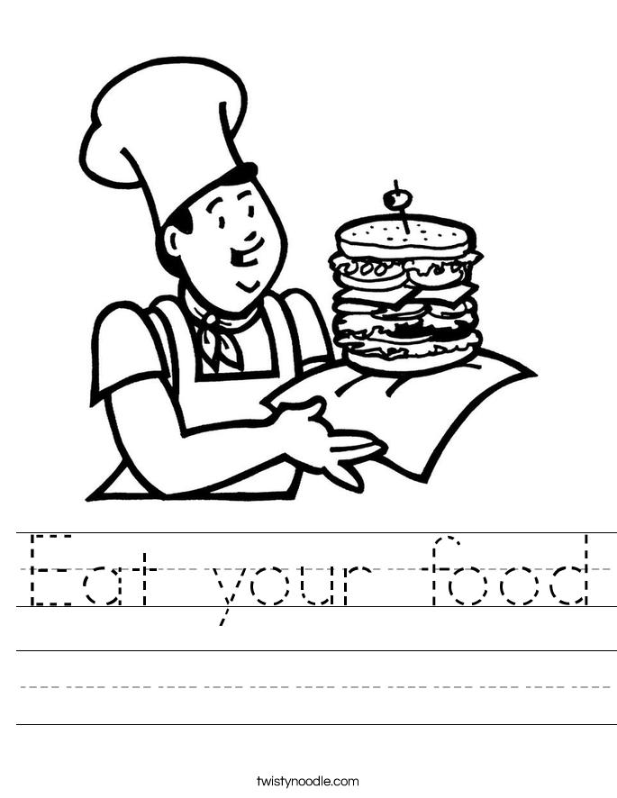 Eat your food Worksheet