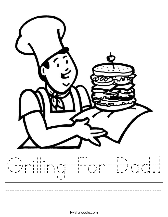 Grilling For Dad!! Worksheet