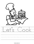 Let's Cook Worksheet