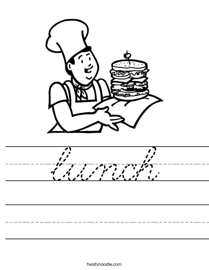 lunch Worksheet