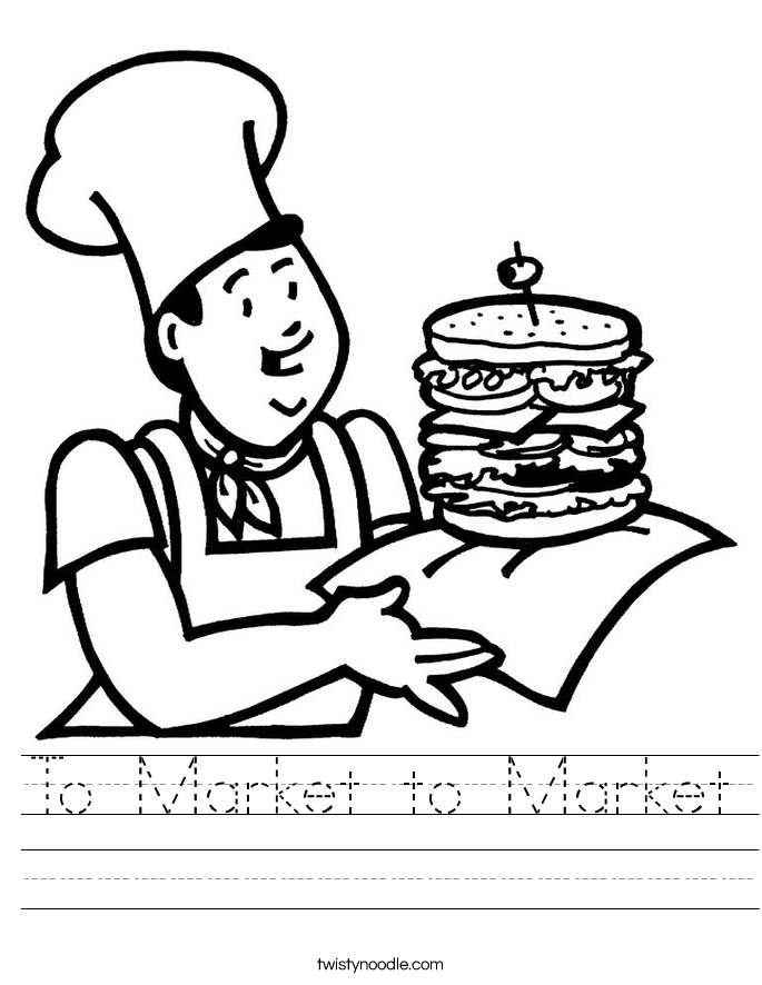 To Market to Market Worksheet