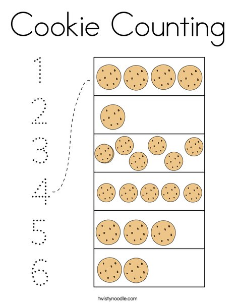 Cookie Counting Coloring Page
