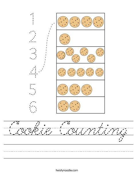 Cookie Counting Worksheet