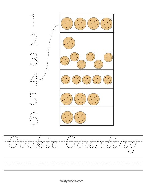 Cookie Counting Worksheet