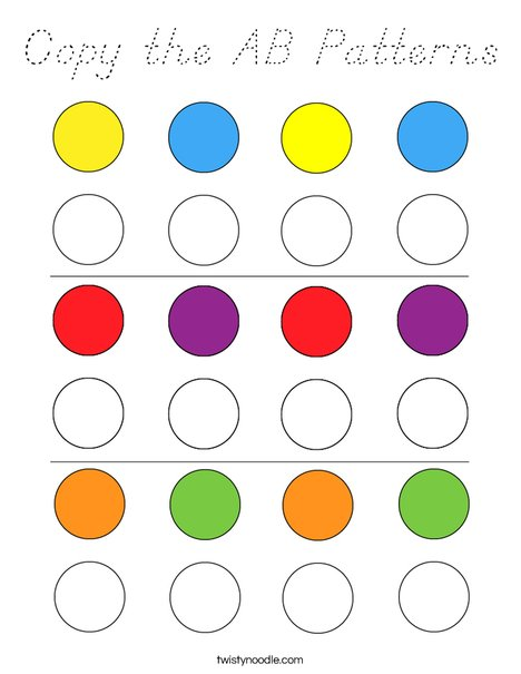 Copy the AB Patterns Coloring Page