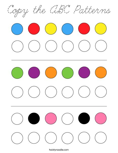 Copy the ABC Patterns Coloring Page