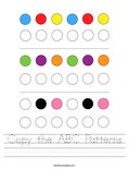 Copy the ABC Patterns Worksheet
