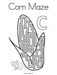 Corn Maze Coloring Page