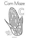 Corn Maze Coloring Page
