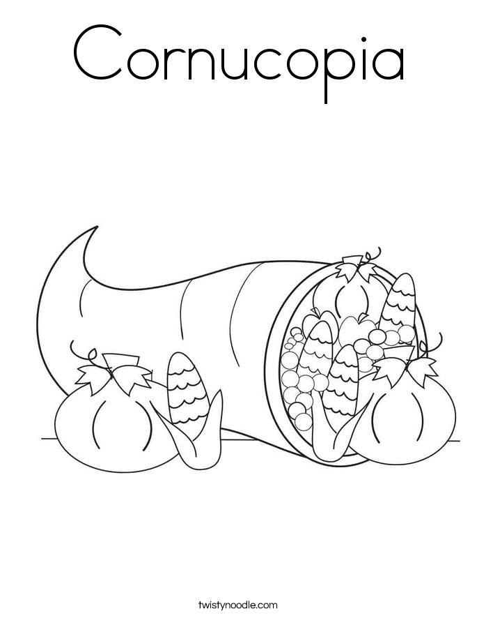 Cornucopia Coloring Page Twisty Noodle