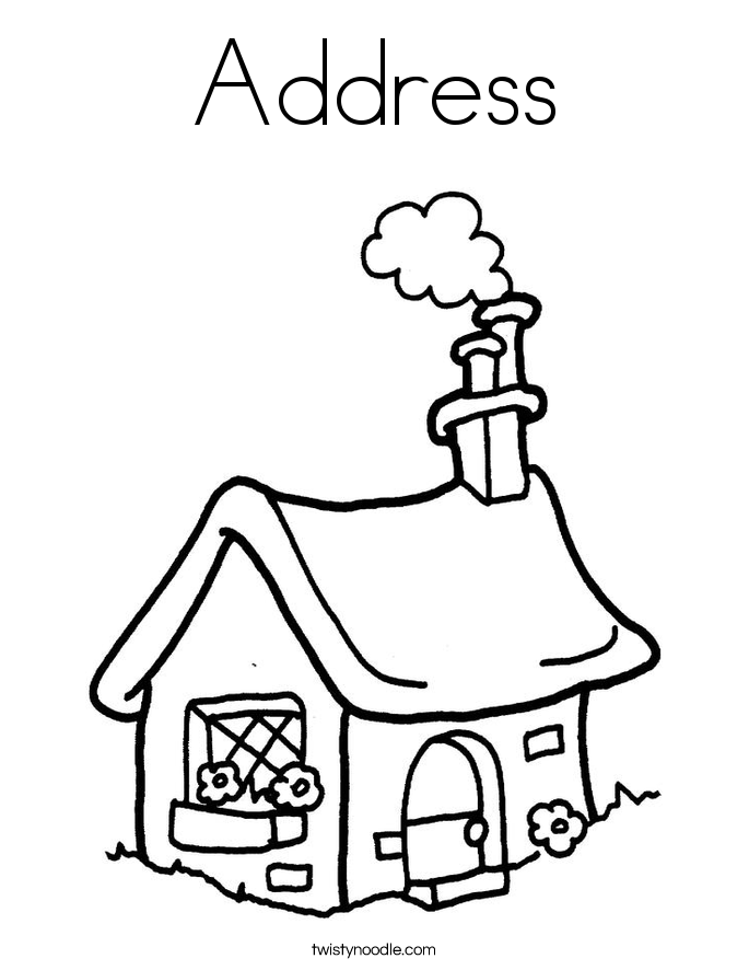 Address Coloring Page - Twisty Noodle