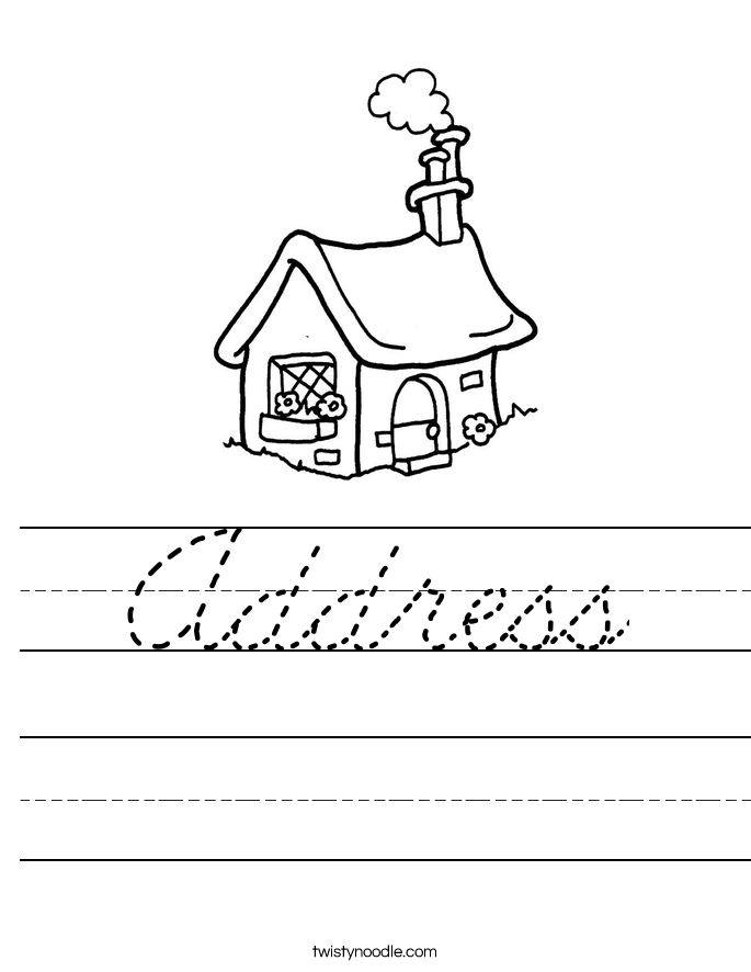 Address Worksheet