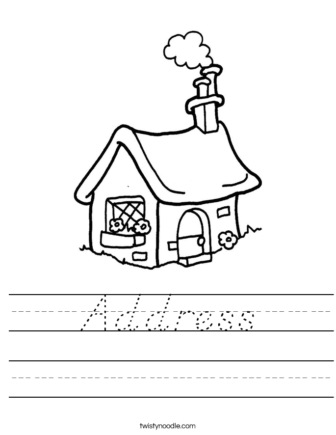 Address Worksheet