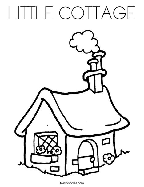 little house coloring pages - photo#36