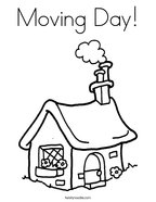 Moving Day Coloring Page