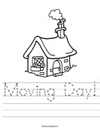 Moving Day Handwriting Sheet