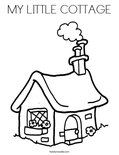 MY LITTLE COTTAGE Coloring Page