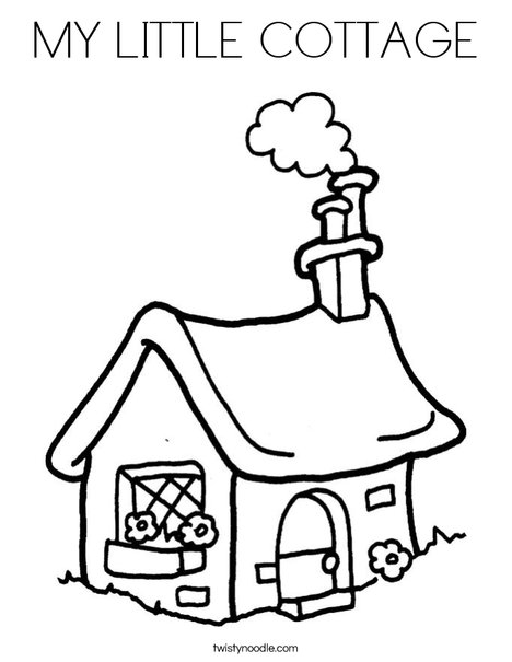 Cottage 2 Coloring Page