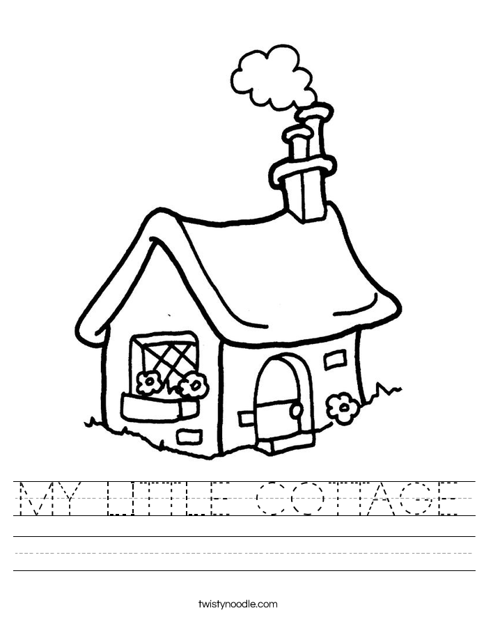 MY LITTLE COTTAGE Worksheet