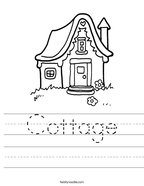 Cottage Handwriting Sheet