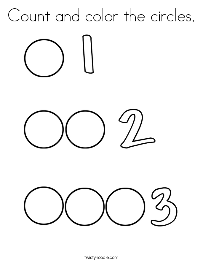 Count and color the circles. Coloring Page