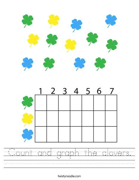 Count and graph the clovers. Worksheet