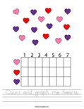 Count and graph the hearts. Worksheet