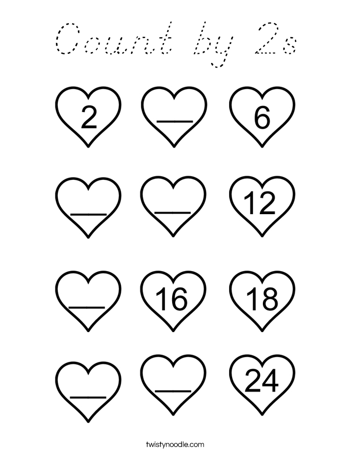 Count by 2s Coloring Page