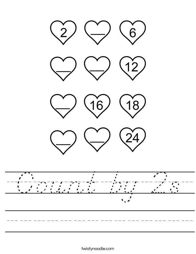 Count by 2s Worksheet