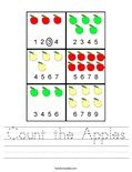 Count the Apples Worksheet