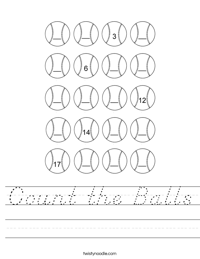 Count the Balls Worksheet