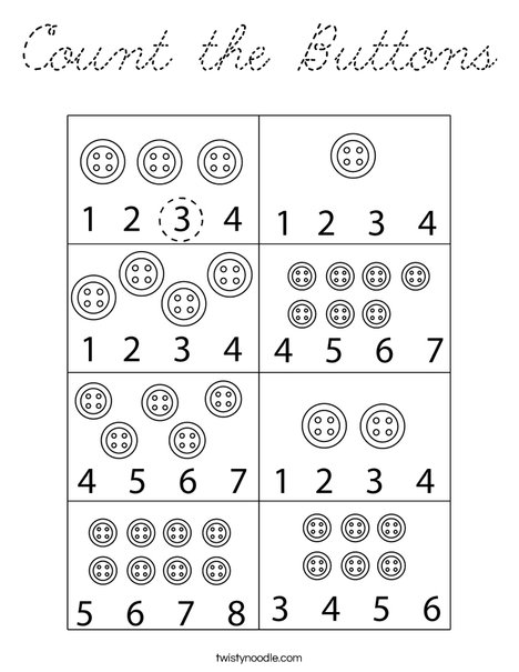 Count the Buttons Coloring Page
