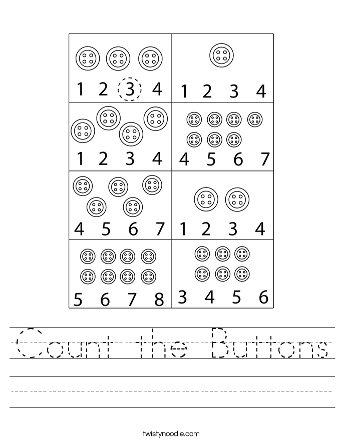 Count the Buttons Worksheet
