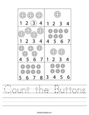 Count the Buttons Handwriting Sheet