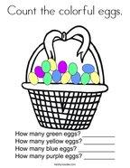 Count the colorful eggs Coloring Page