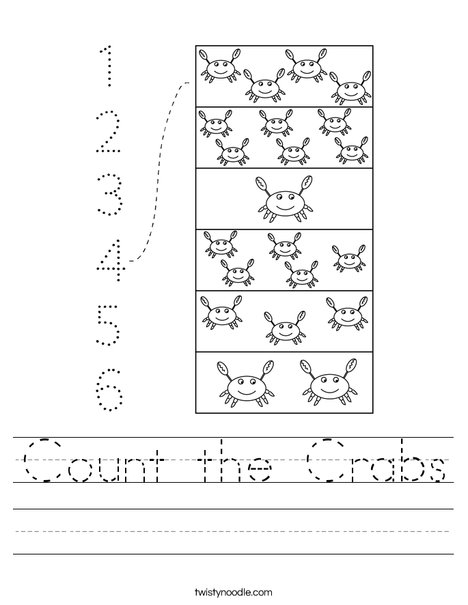 Count the Crabs Worksheet