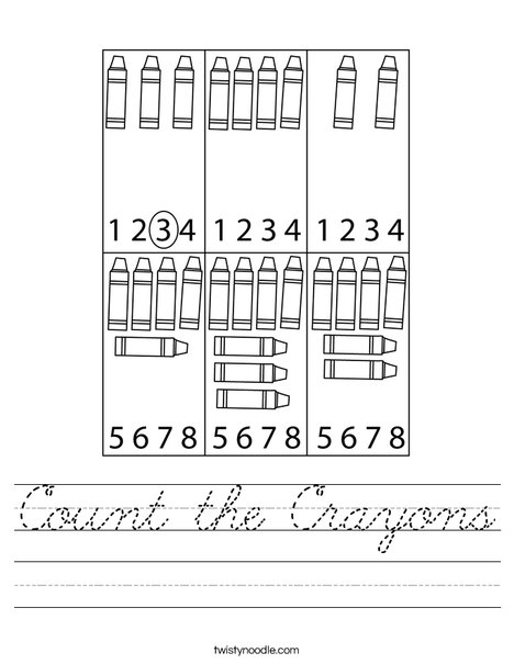 Count the Crayons Worksheet
