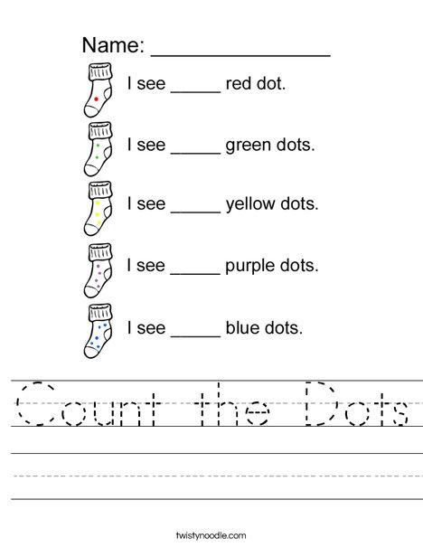 Count the dots Worksheet