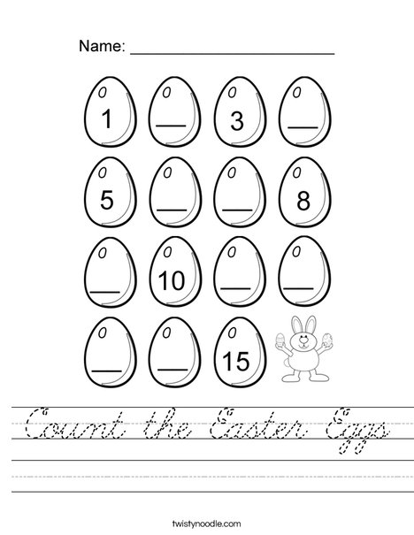 Count the Easter Eggs Worksheet